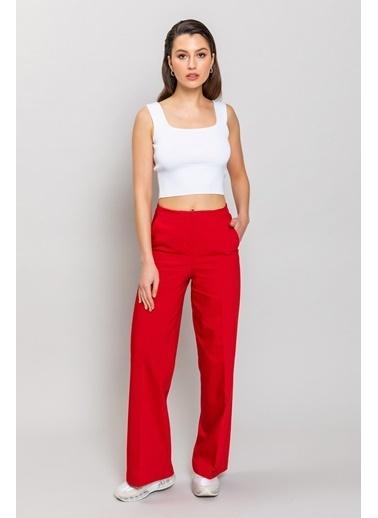 Ashleys Pantolon Kırmızı